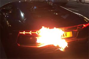 Aventador Fire