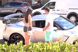 Kids Picking Up Girls Nissan GT-R