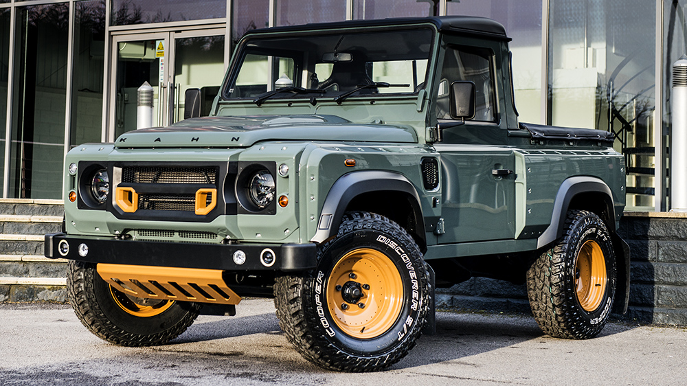 Keswick Green Land Rover Defender 2.4 TDCI 90 Pick Up Chelsea Wide Track
