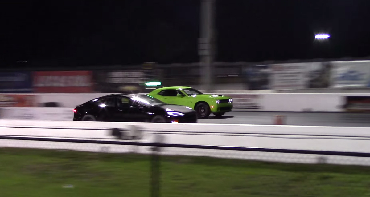Dodge Challenger SRT Hellcat vs Tesla Model S P85D Part II