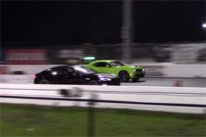 Dodge Challenger SRT Hellcat vs Tesla Model S P85D Part II