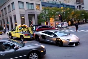 Lamborghini Tow fail