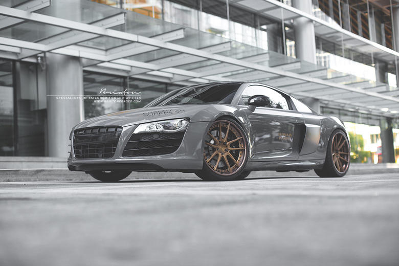 Audi R8 V10 Brixton Forged M53 Targa Wheels by Wrap-Workz