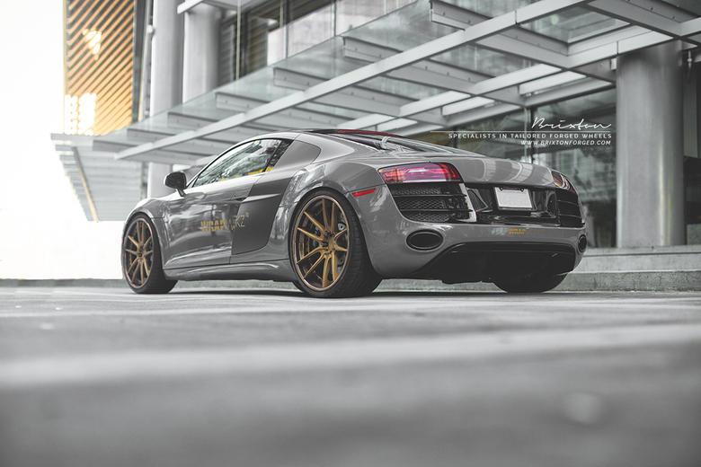 Audi R8 V10 Brixton Forged M53 Targa Wheels by Wrap-Workz