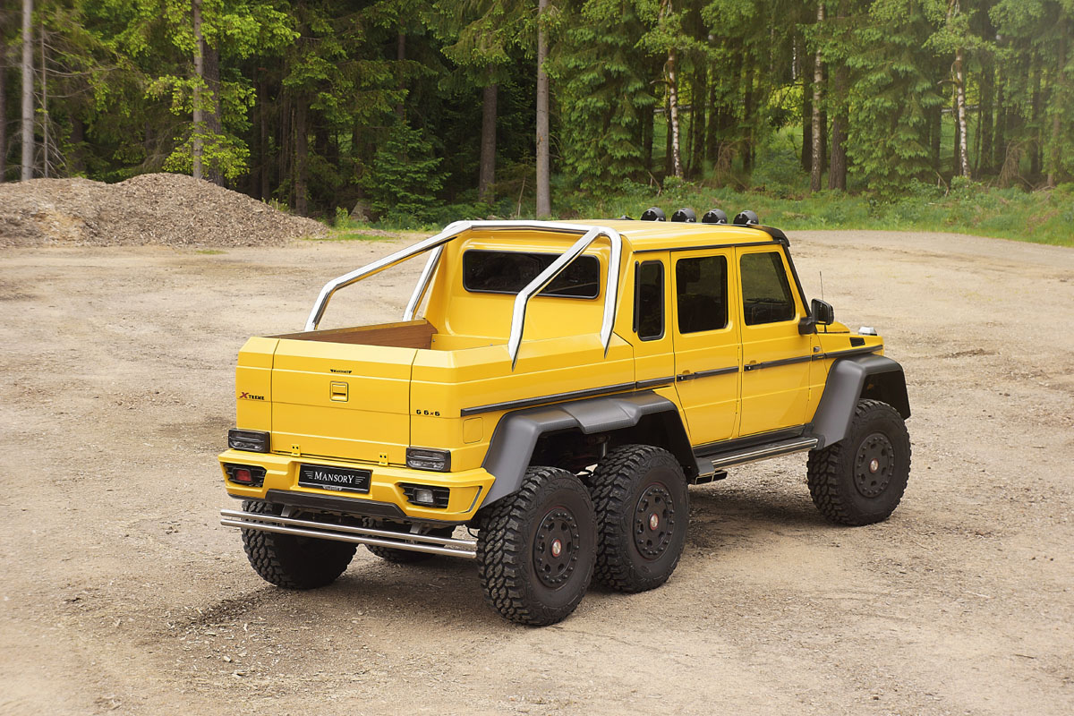 The mansory mercedes benz g63 amg 6x6 is downright brutal for Mercedes benz g36 amg 6x6 price