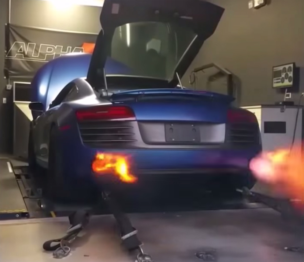 Fire Spitting Audi R8