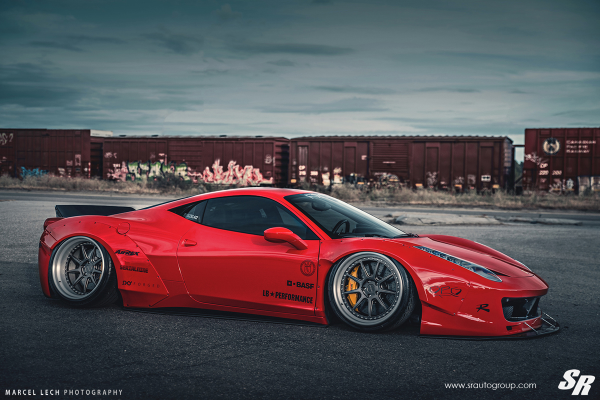 featured fitment liberty walk ferrari 458 with pur wheels. Black Bedroom Furniture Sets. Home Design Ideas
