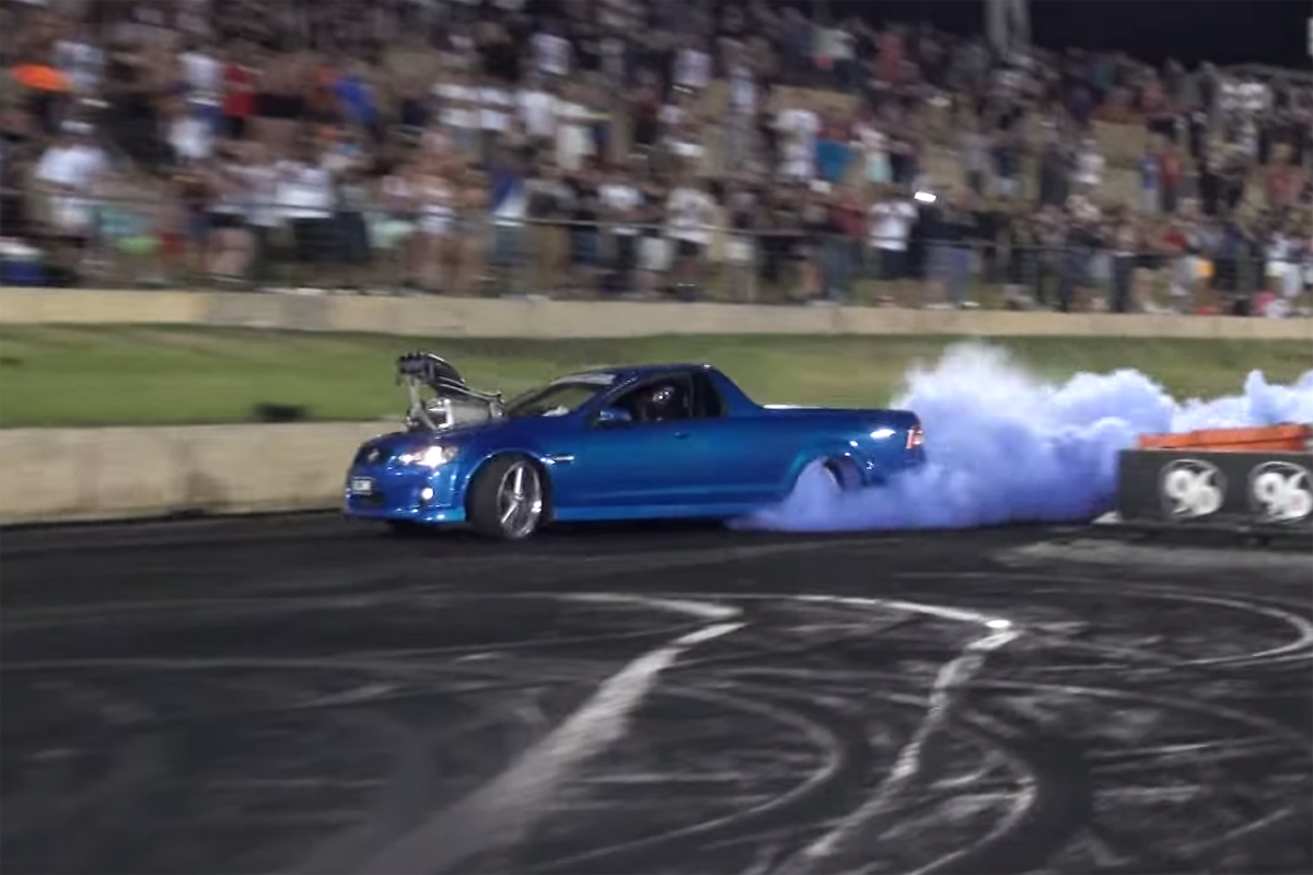 Holden Commodore SS Fire Burnout