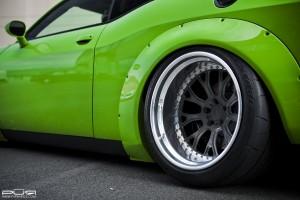 Dodge Challenger SRT Hellcat Liberty Walk and PUR Wheels