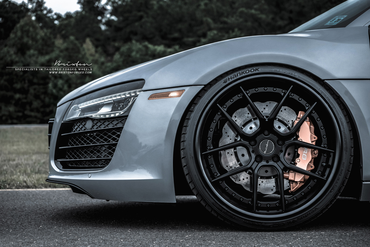 Audi R8 V10 with Brixton Forged CM5 Targa Series Wheels