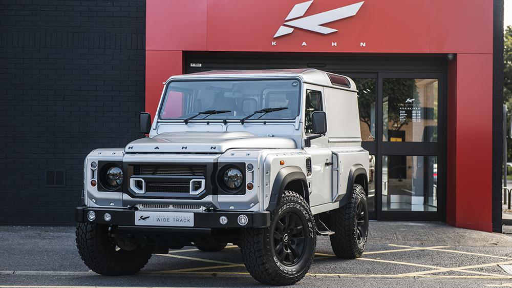 Silver Land Rover Defender