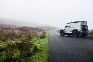 Silver Land Rover Defender 2.2 TDCI 90 Hard Top Chelsea Wide Track