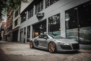 Audi R8 V10 on Brixton Forged M53 Targa Series