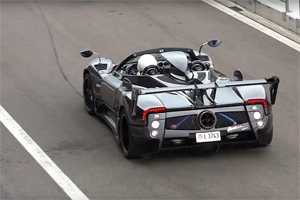 Pagani Zonda 760LM Roadster on the Track