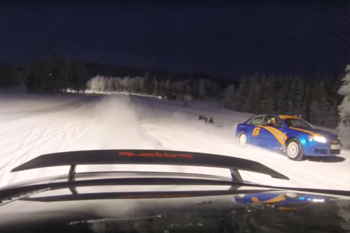 Audi R8 Ski Slopes