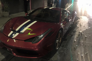 Steve Goldfield 458 Speciale Crash