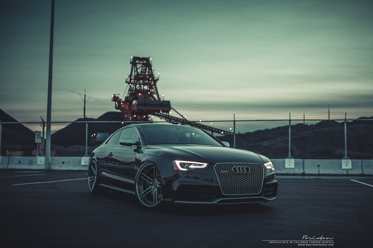 Audi RS 5 with Brixton Forged M52 Monaco Series wheels