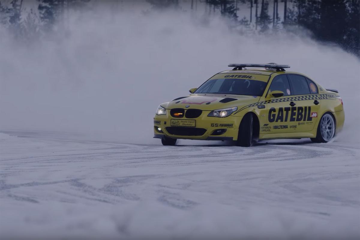 Liam Doran in Gatebil on ice