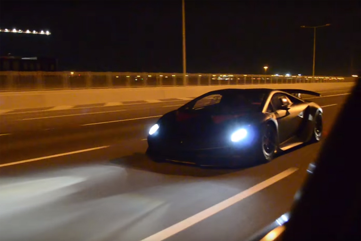 Lamborghini Sesto Elemento on the Street