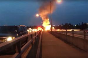 Mercedes-Benz C300 Explodes