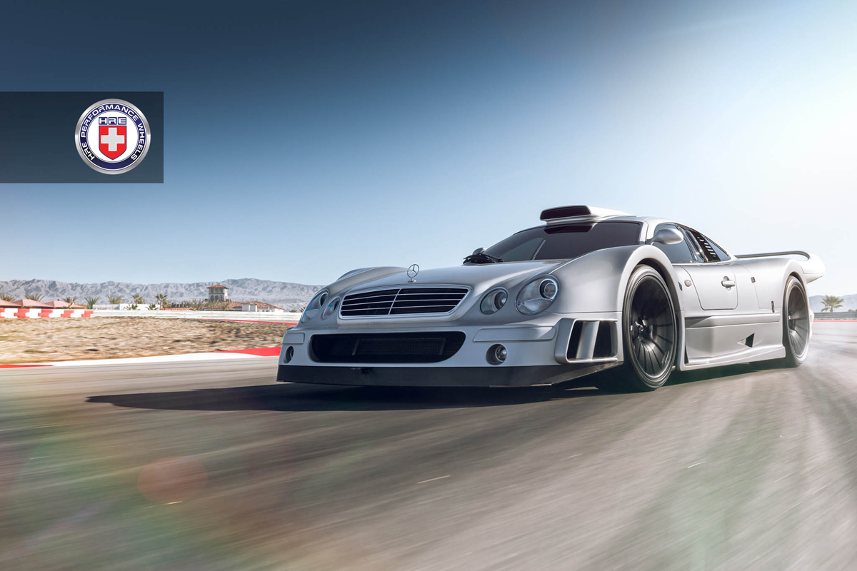 Featured fitment mercedes benz clk gtr with hre p103s for Six wheel mercedes benz