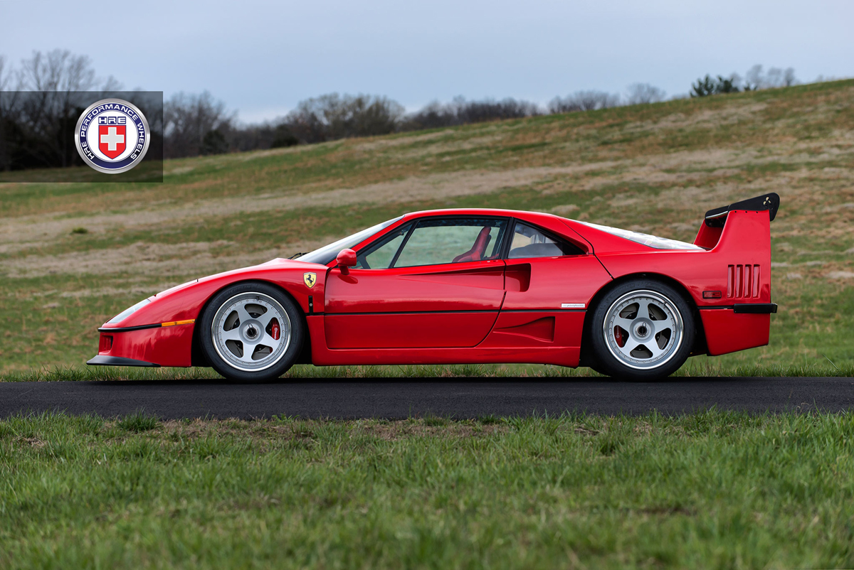 Featured Fitment Ferrari F40 With Hre Classic 305 Wheels