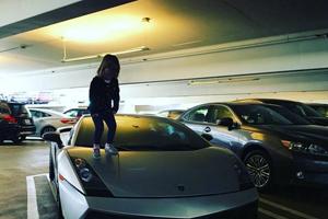 Jaxin Hall Kid on Lamborghini Gallardo