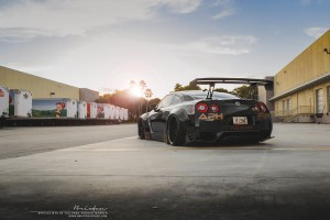 Liberty Walk Nissan GT-R with Brixton Forged R25 Monaco Series Wheels