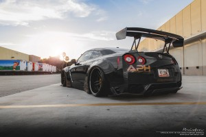 Liberty Walk Nissan GT-R with Brixton Forged R25 Monaco Series Wheels