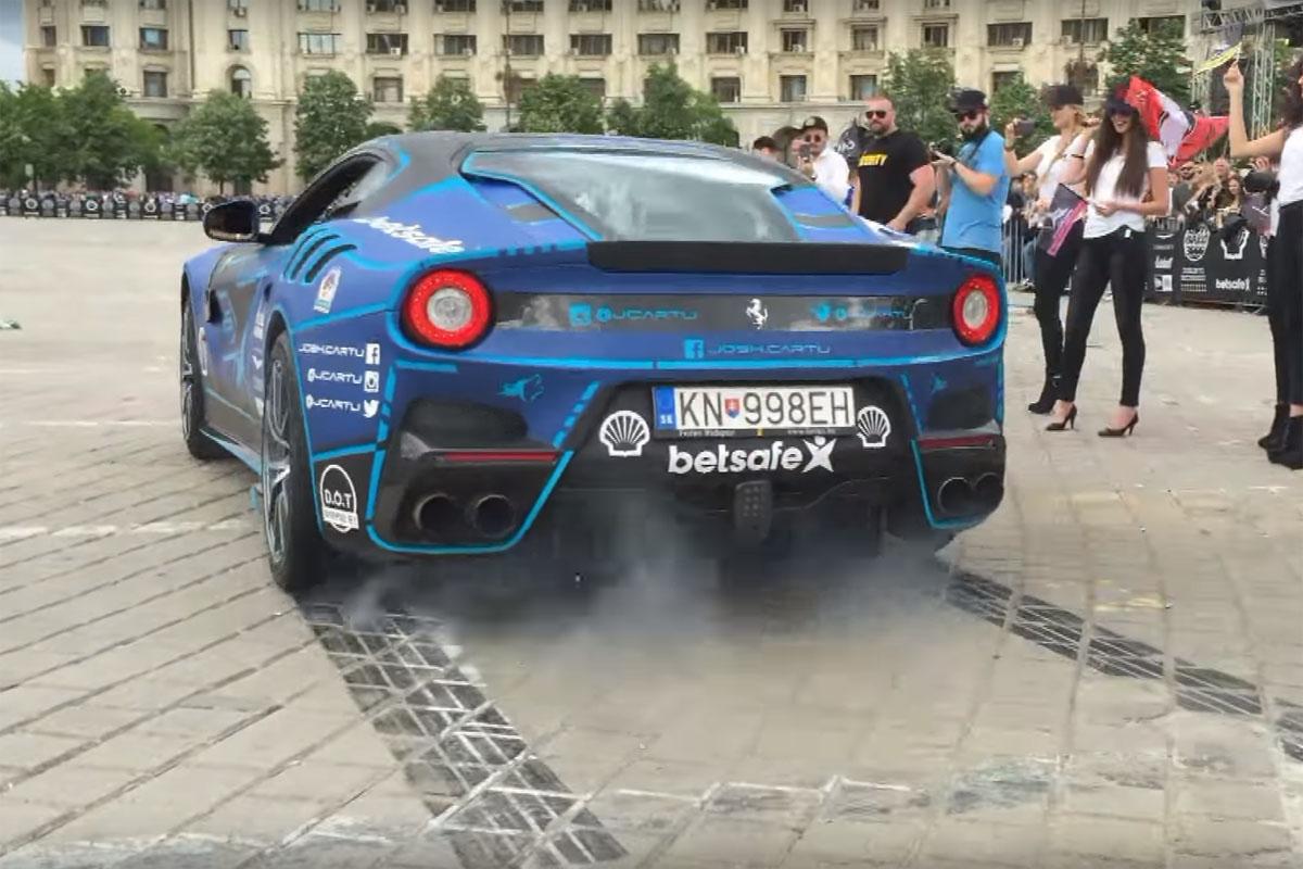 Ferrari F12tdf burnouts