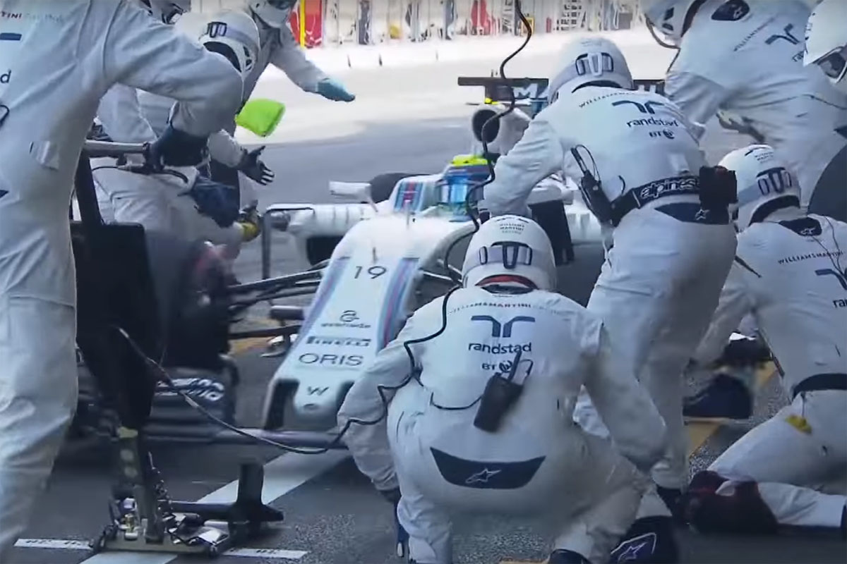 Williams F1 Pit Stop Record