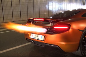 McLaren MP4-12C exhaust flames
