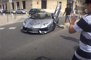 Friday FAIL: Lamborghini Aventador Owner Loses Mind