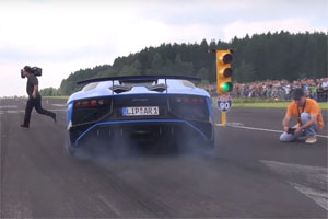 Lamborghini Aventador LP 750-4 SV Cameraman Close Call