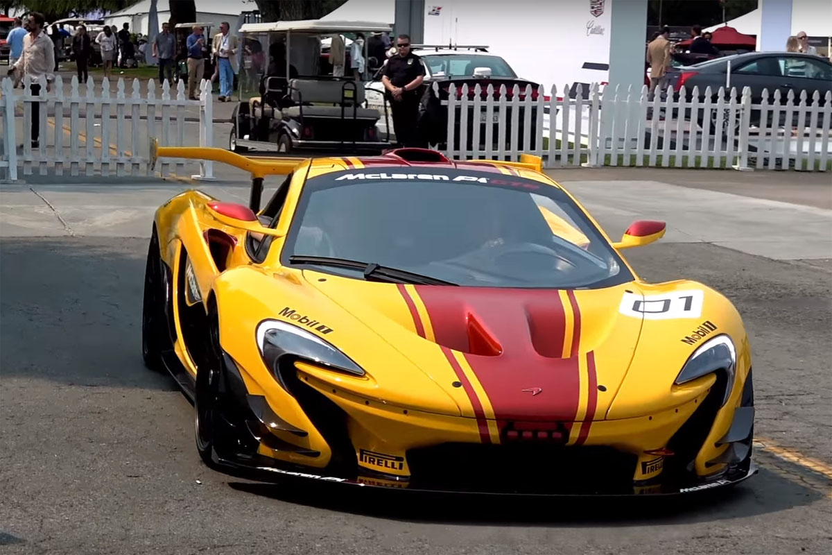 check out this mclaren p1 gtr on the road at monterey. Black Bedroom Furniture Sets. Home Design Ideas