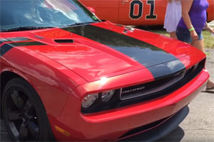 Local Dodge Challenger Idiot at Car Show