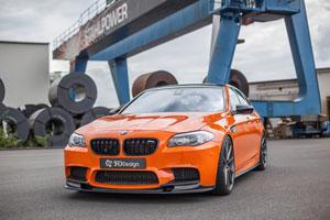 Carbonfiber Dynamics BMW M5 with 3DDesign carbon fiber kit