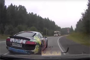 Audi R8 Hit and Run Dashcam