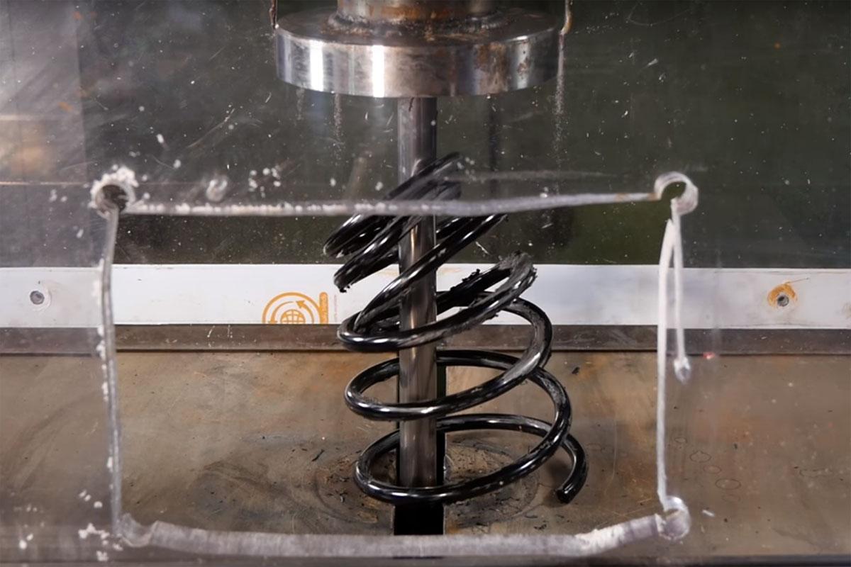 Hydraulic Press Car Spring
