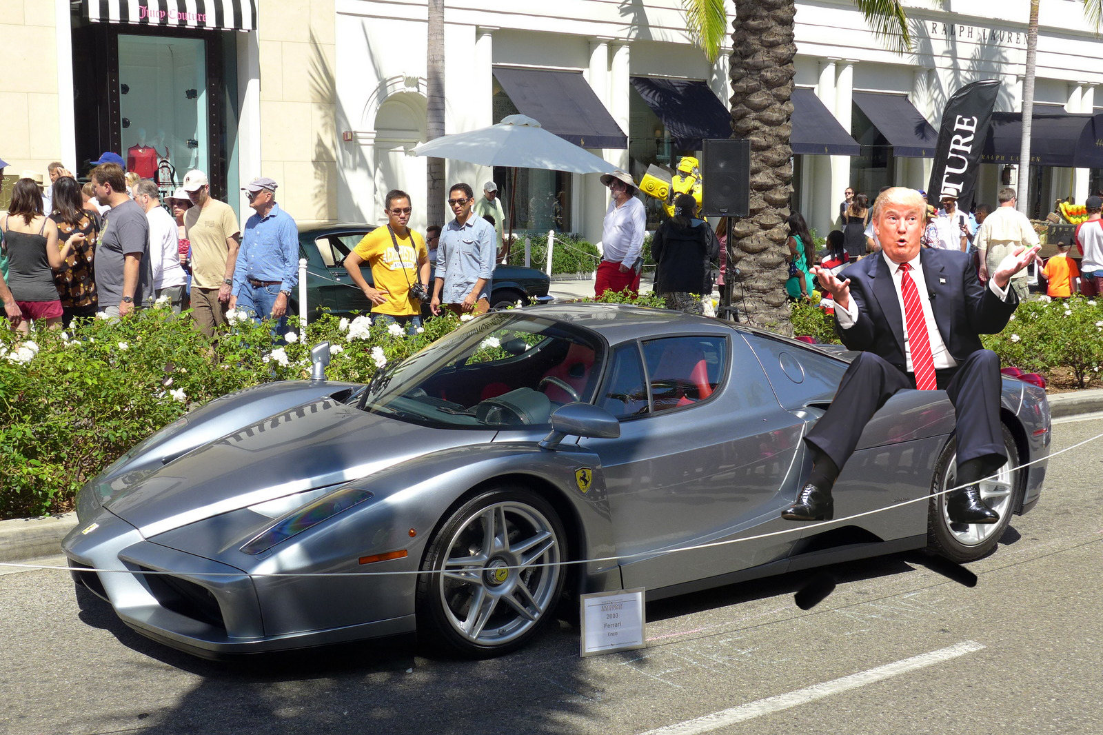 Images Leaked Of Donald Trump Leaning On Cars At Exotic