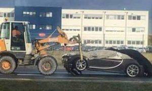First Bugatti Chiron Crash