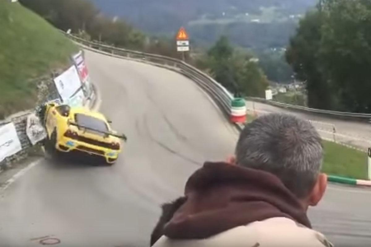 Friday FAIL: Ferrari Hillclimb Crash