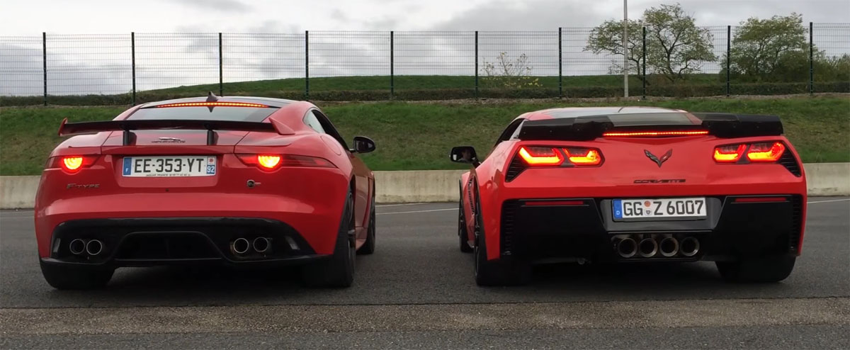 Jaguar F-Type SVR vs Corvette Z06