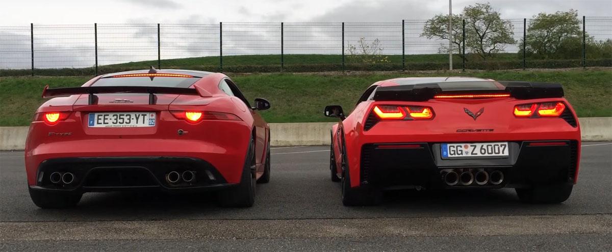 Jaguar F-Type SVR vs Corvette Z06