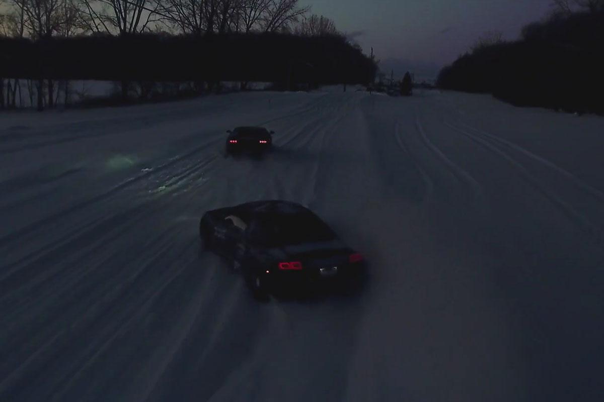 Daily Driven Exotics Snow Drifting