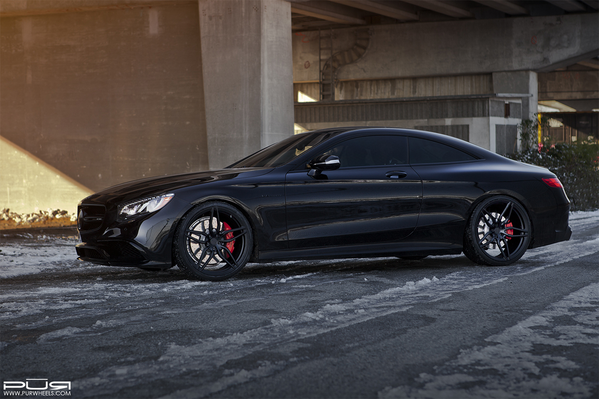 featured fitment mercedes amg s63 coupe with pur rs23 wheels. Black Bedroom Furniture Sets. Home Design Ideas