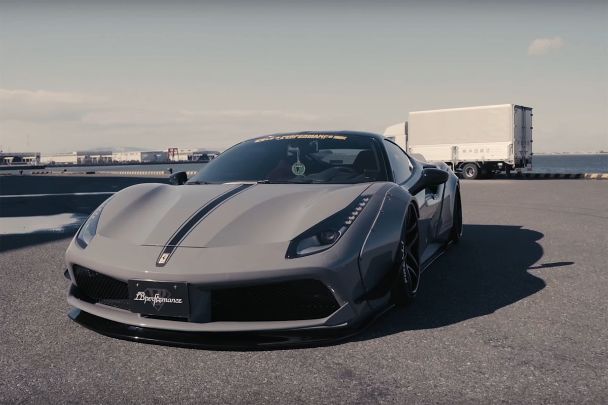 Liberty Walk Ferrari 488 GTB with FiExhaust