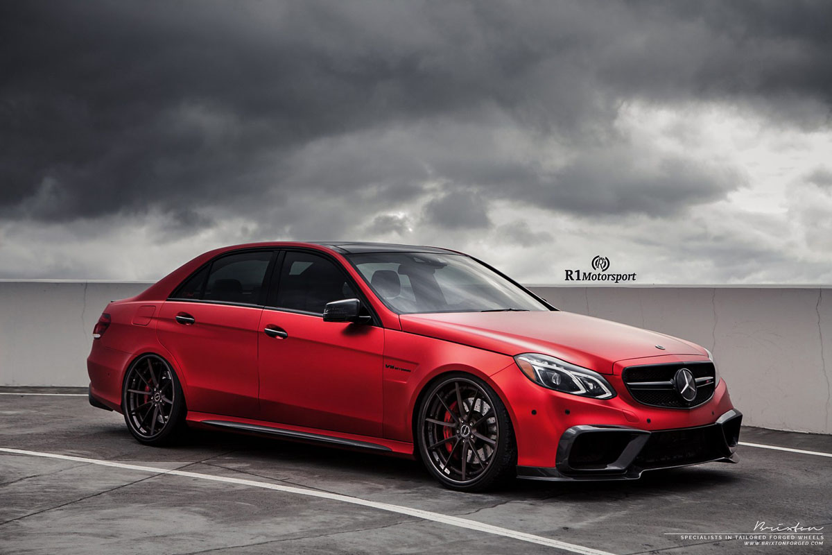 Mercedes-Benz E63 AMG with Brixton Forged WR3 Targa Series Wheels