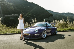 Purple RWB Porsche Brixton Forged Wheels