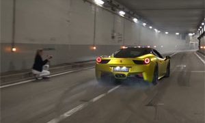 Sports Car Launches Monaco Tunnel